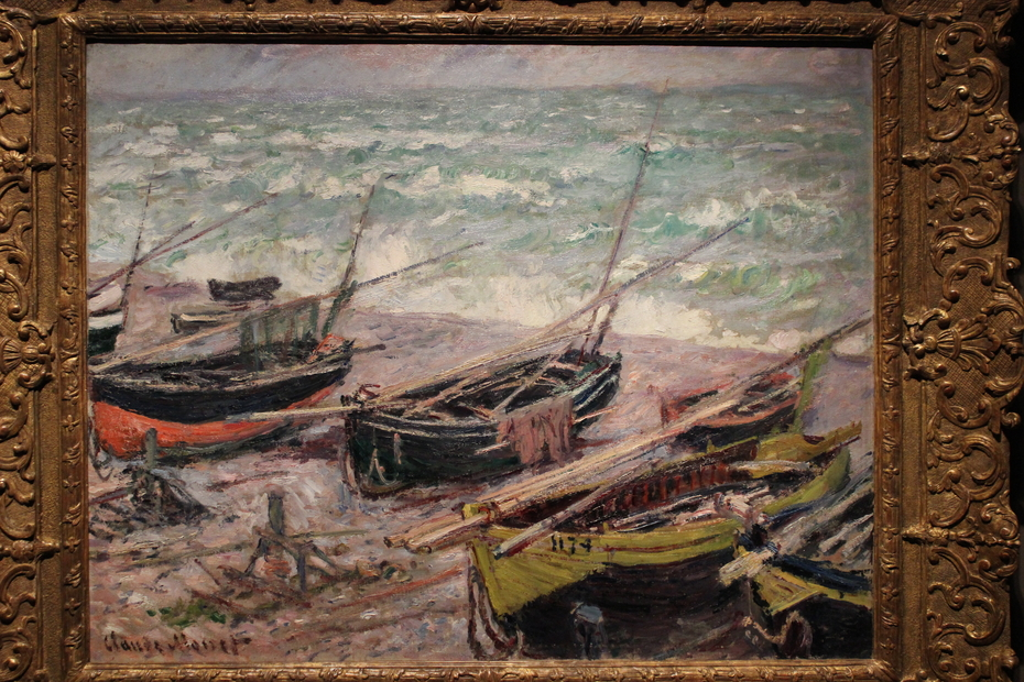 Fishing Boats in Étretat
