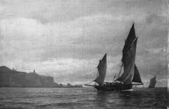 Fiskerbåde ved en Kyst