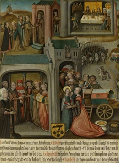 Four scenes from the legend of St Elizabeth of Hungary