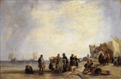 French Coast with Fishermen