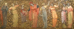 Frieze of Eight Women Gathering Apples