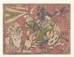 Ganesha Leads Shiva and Durga in Procession