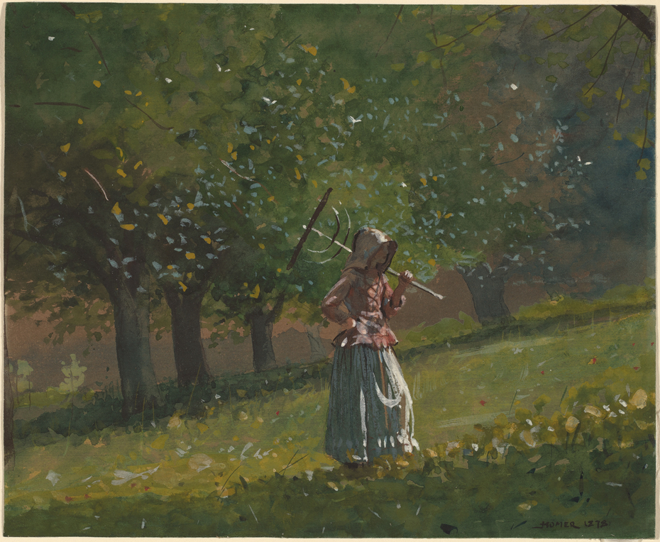 Girl with Hay Rake