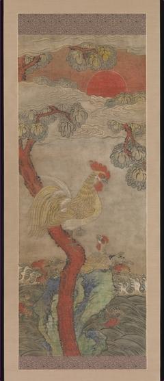 Golden Cock and Hen