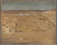 Graveyard in the desert. From the journey to Egypt