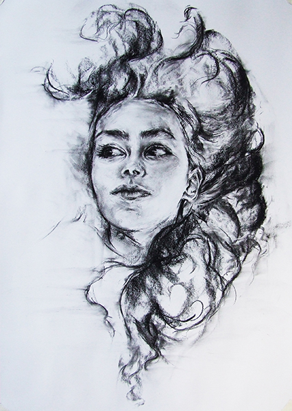 Head in Charcoal