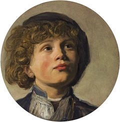 Head of a boy in a beret