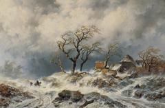 Holländische Winterlandschaft (Schneewehen)