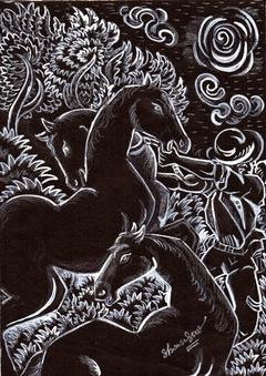 HORSE RIDER .......... DHIMAN BHATTACHARJEE