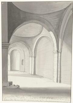 Interieur van antieke tempel gelegen ten oosten van Gallipoli
