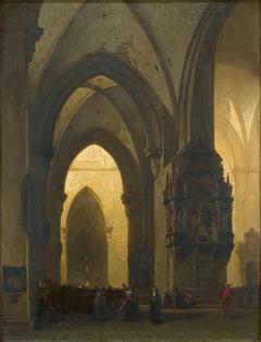 Interieur van de Domkerk te Trier