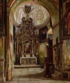 Interior of a Chapel at the Parish Church in Krosno