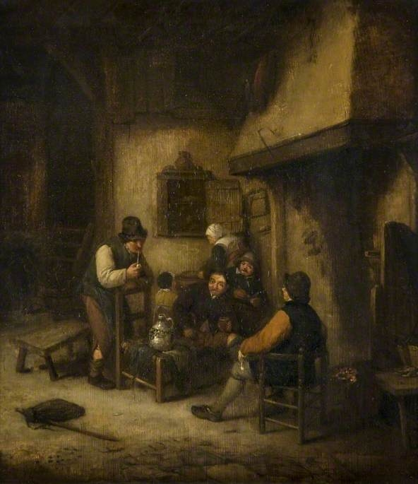 Interior with Peasants by a Fire