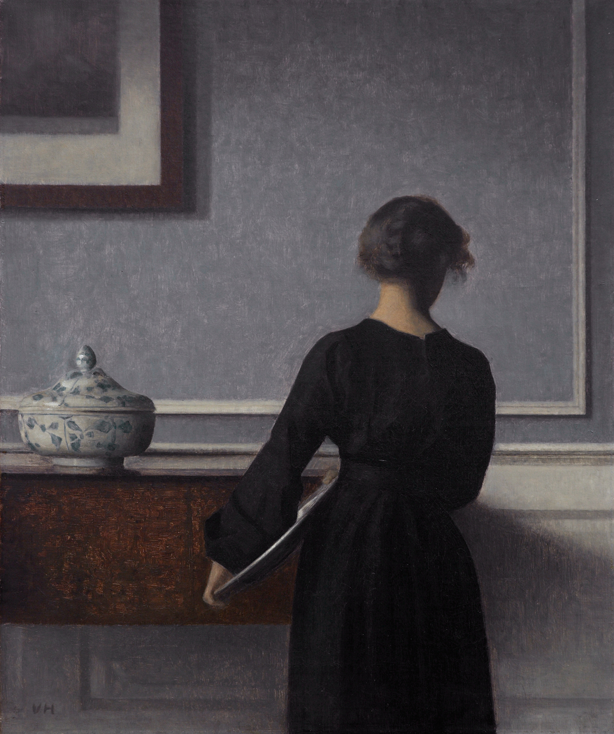 Interior with Young Woman Seen from the Back