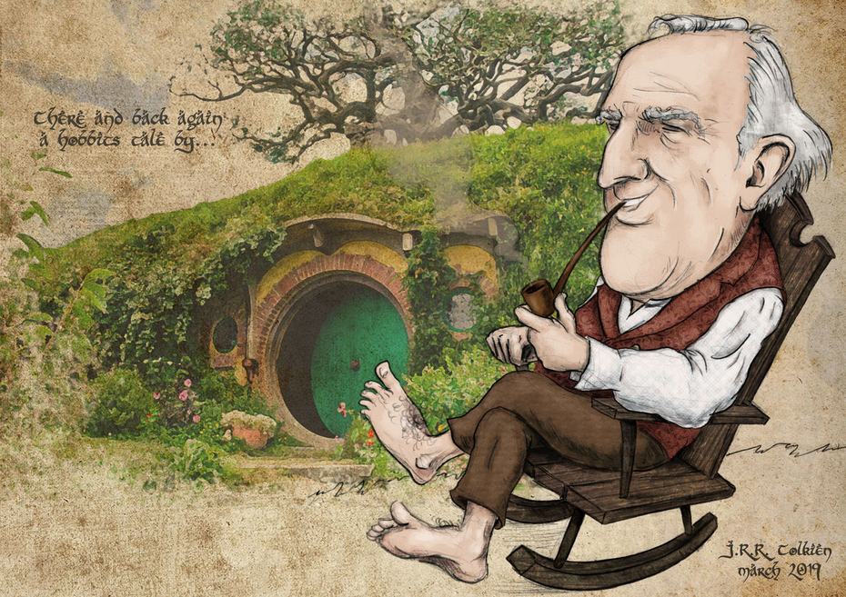 J.R.R. Tolkien -caricature