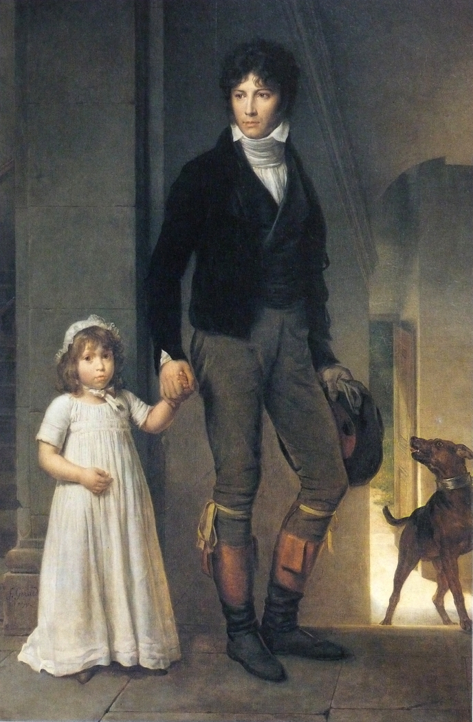 Jean-Baptist Isabey, Miniaturist, with his Daughter