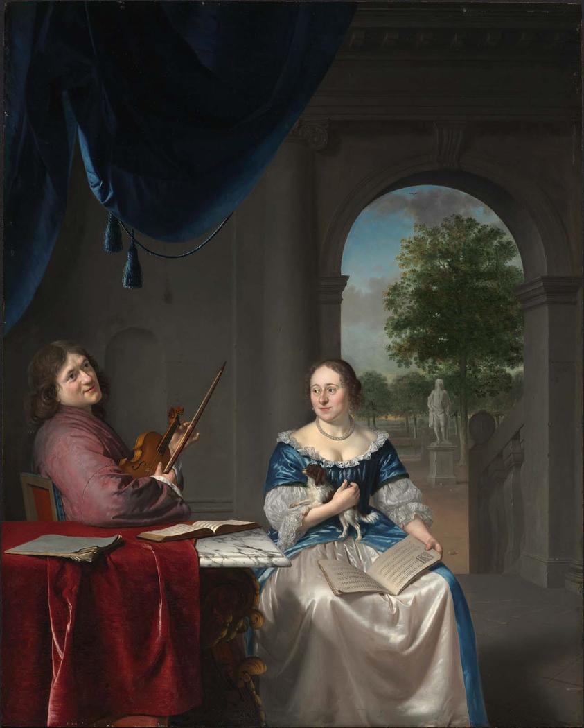 Johan van Musschenbroek and His Wife