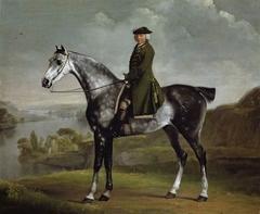 Joseph Smyth Esq, Lieutenant of Whittlebury Forest, Northamptonshire, on a dapple grey horse
