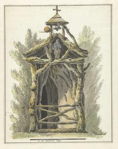Kluizenaarshut met heiligenbeeld