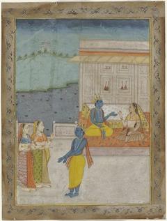 Krishna en herderinnen