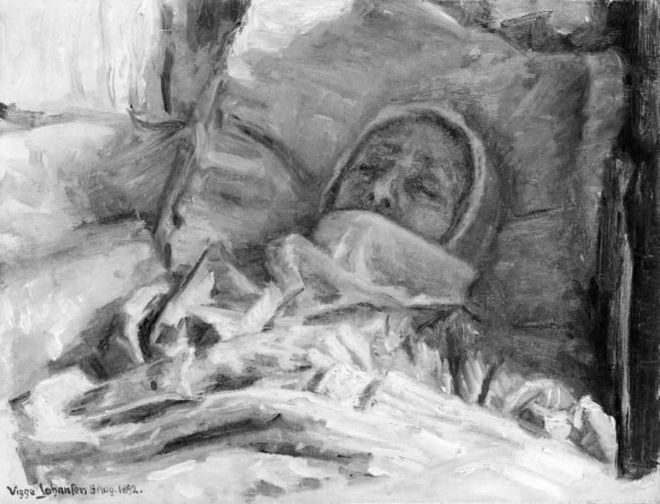 Kunstnerens døde moder