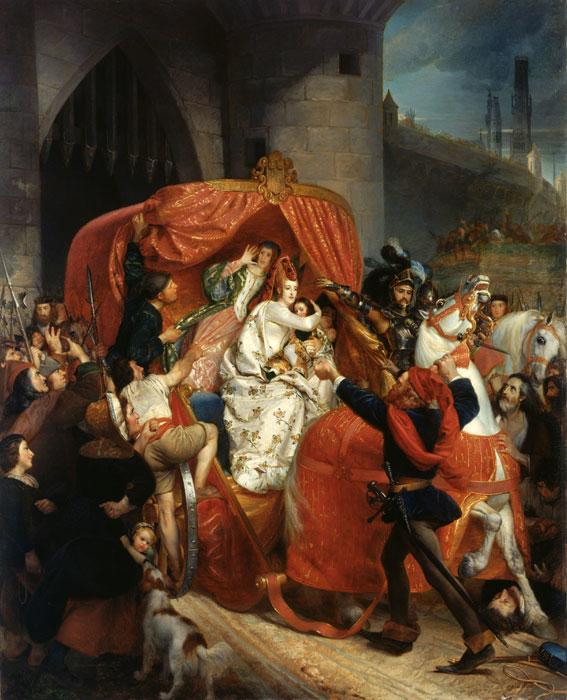 La Duchesse de Bourgogne arrêtée aux portes de Bruges by Sophie Rude