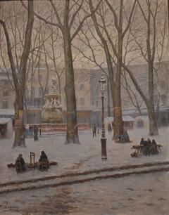 La Place Carnot sous la neige