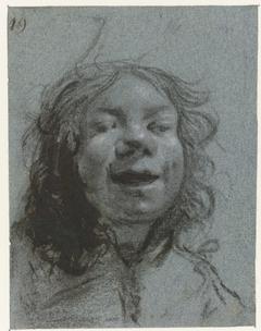 Lachend zelfportret