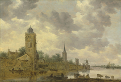 Landscape with City Wall and Lighthouse