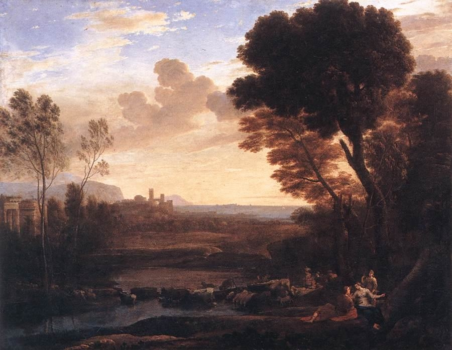 Landscape with Paris and Oenone called Le Gué