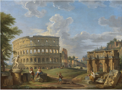 Landscape with the Colosseum and Arch of Constantine, Rome