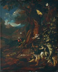 Landschaft mit Reptilien und Insekten (I)