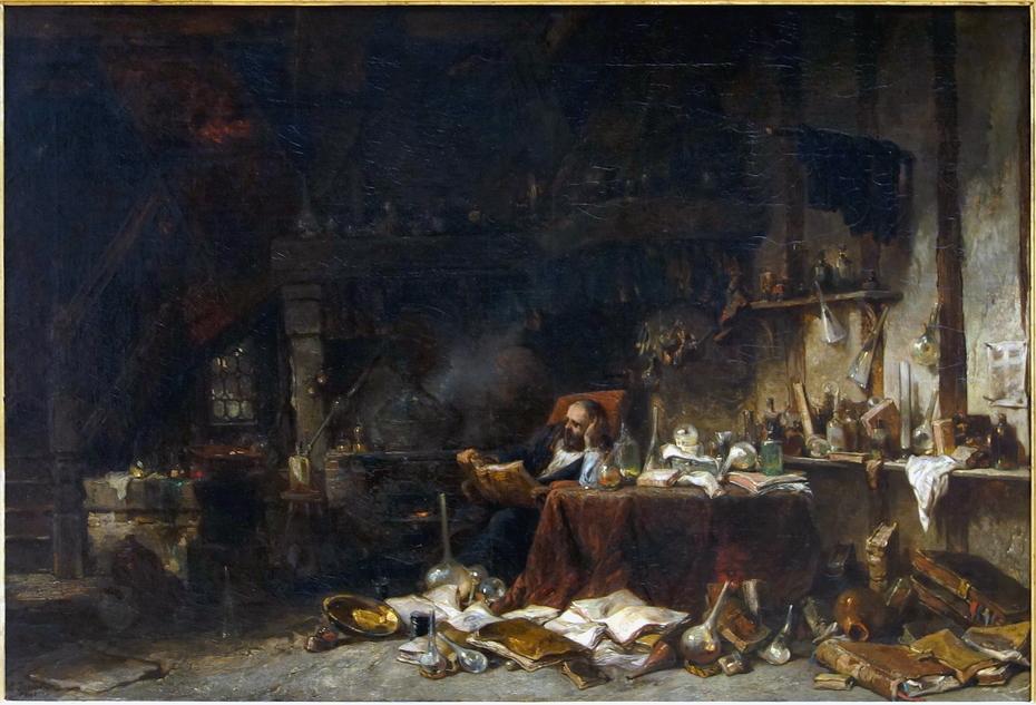 Le cabinet d'un alchimiste