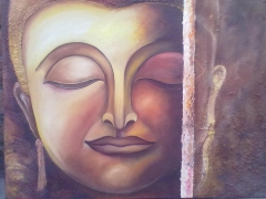 Lord Buddha on canvas