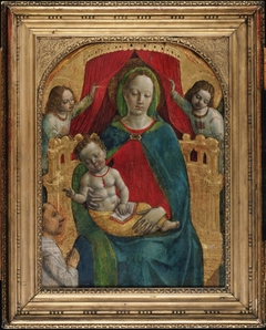 Madonna and Child, Two Angels, Donor