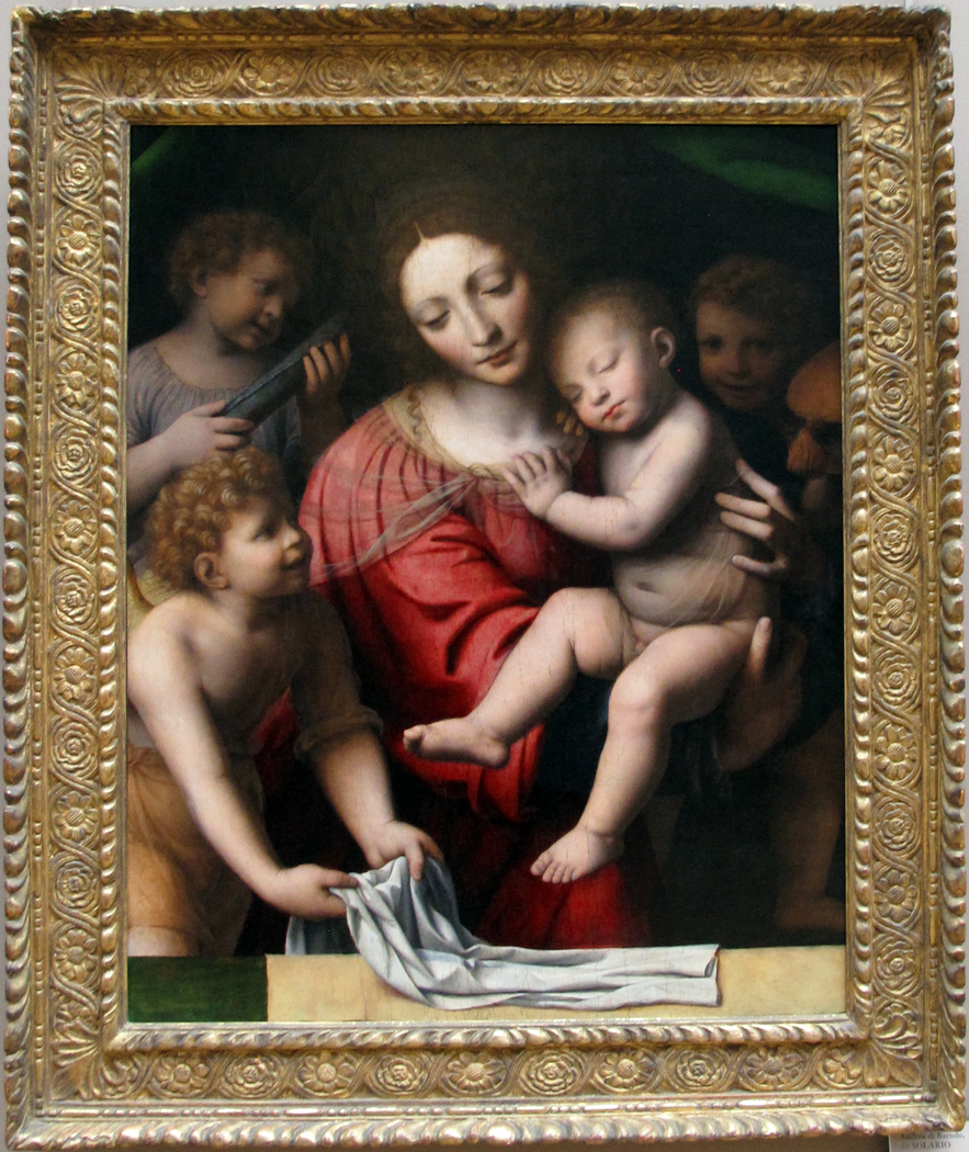 Madonna and Sleeping Child with Three Angels