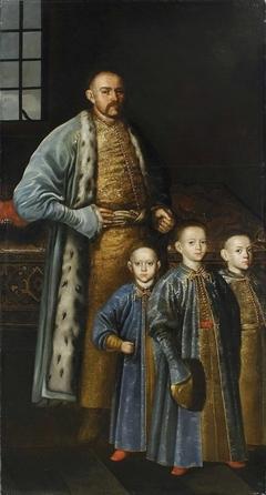 Maksymilian Franciszek Ossoliński with his Sons