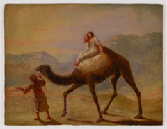 Man with Woman on Camel