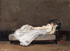 Mette Asleep on a Sofa