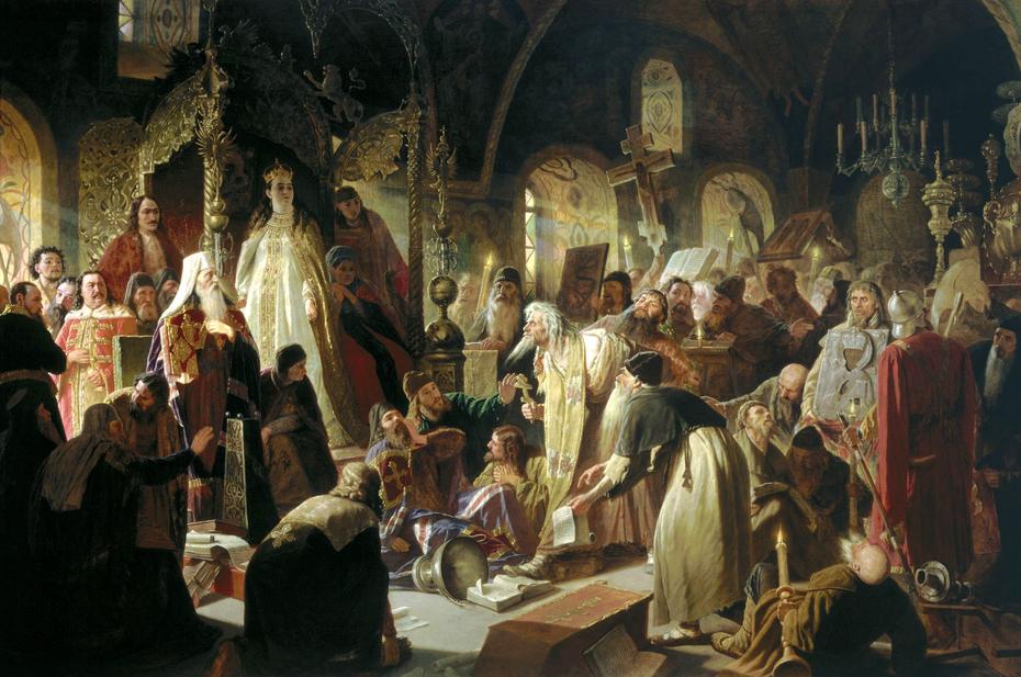 Nikita Pustosvyat. Debate about faith