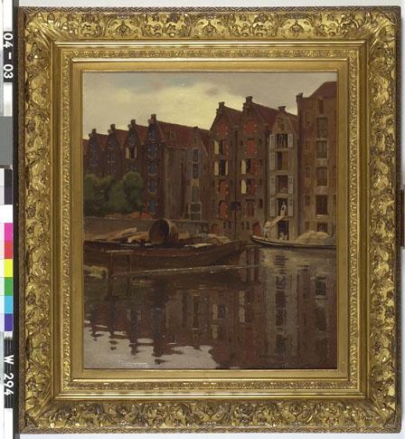 Pakhuizen aan het water Uilenburg