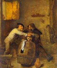 Peasants Brawling in a Tavern