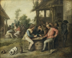 Peasants Playing Cards outside an Inn