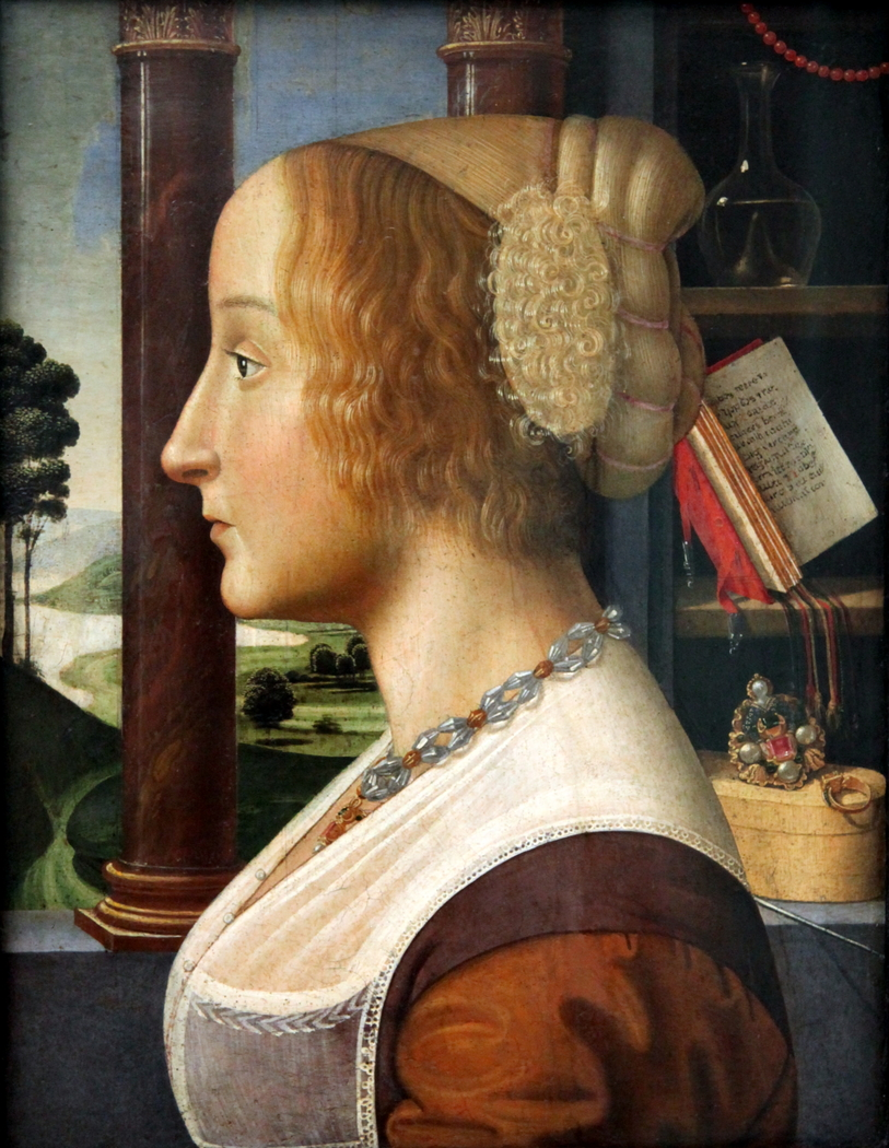 Portrait in profile of a Woman