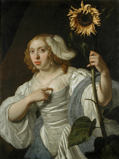 Portrait of a Lady with a Sunflower