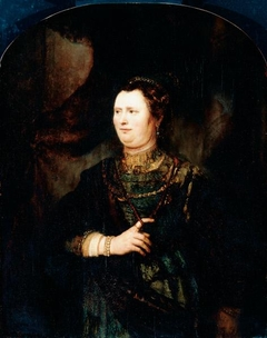 Portrait of a woman in military costume