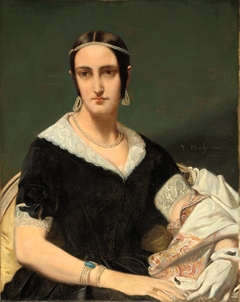 Portrait of a Young Woman with Pearl Necklaces