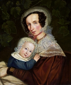 Portrait of Baroness Reinthal with her daughter.