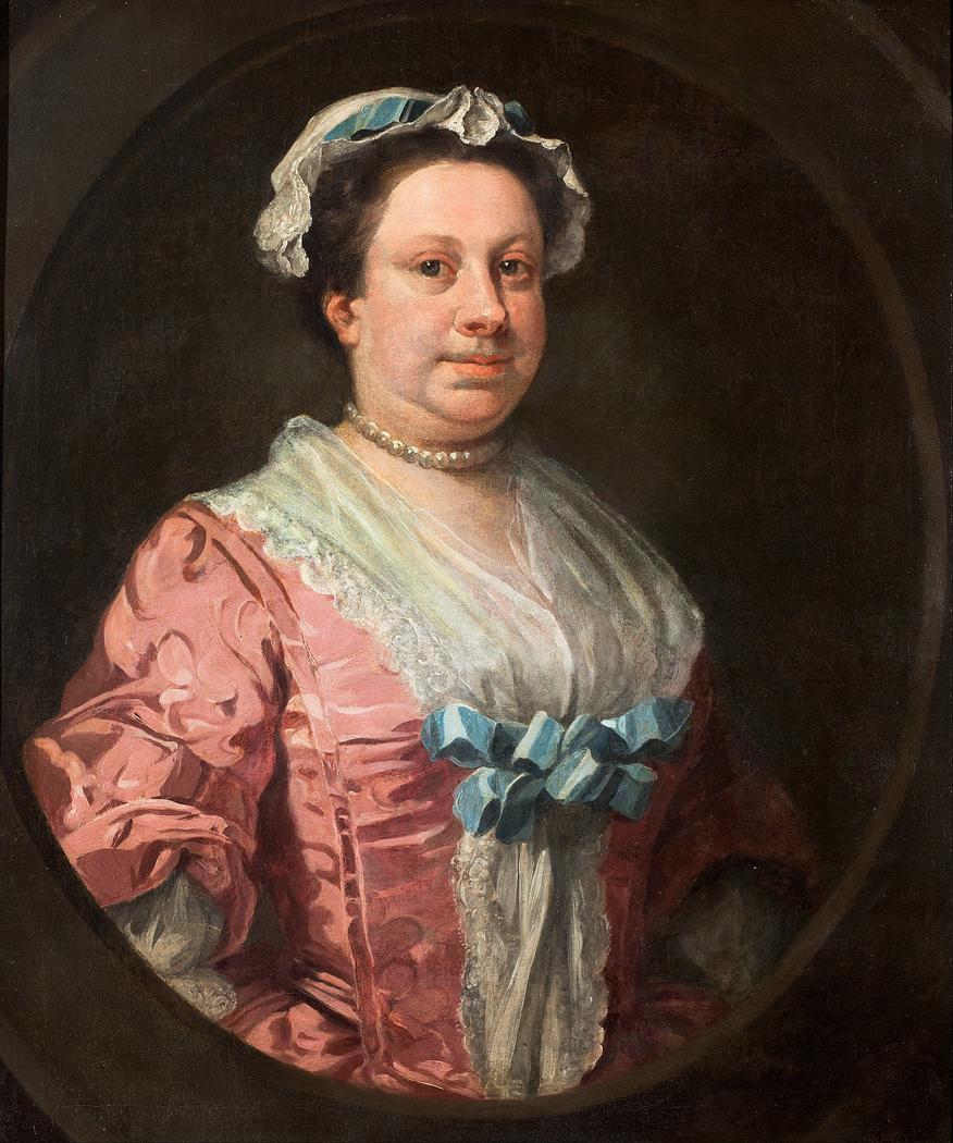 Portrait of the Artist?s Sister, Anne Hogarth (1701-1771) or, Lady in Rose Taffeta