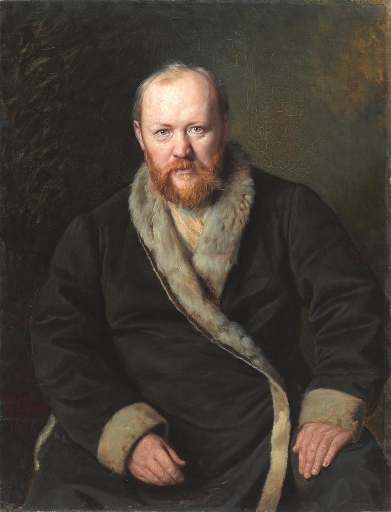 Porträt des Dramatikers A. N. Ostrowskij